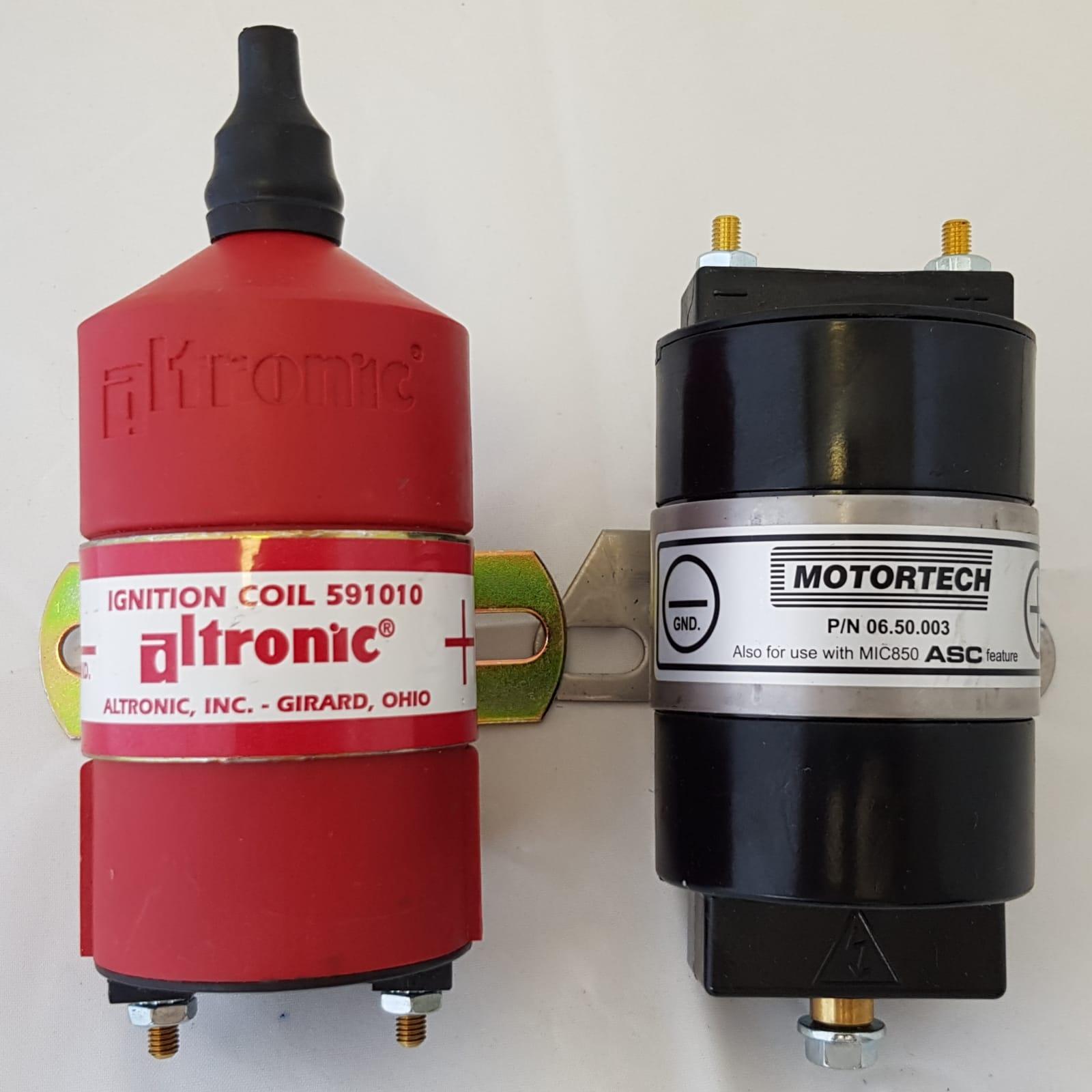 Bobines voor gasmotoren rood en zwart